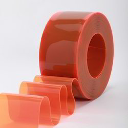 50m PVC Strip Roll Orange 2mm Thick Suitable For Energy Saving