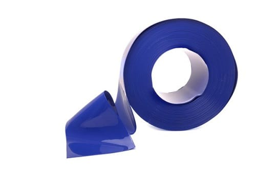Blue PVC Strip Roll 200mm x 2mm For Privacy Area