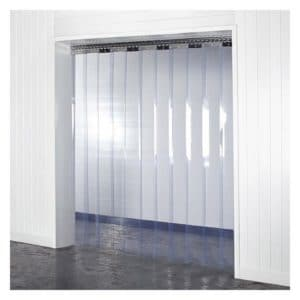 Clear PVC 300mmx3mm Strip Curtain Control Ambient Temperatures