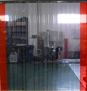 Flexible Clear PVC Door Strip Curtain 10m Roll Weather Resistant