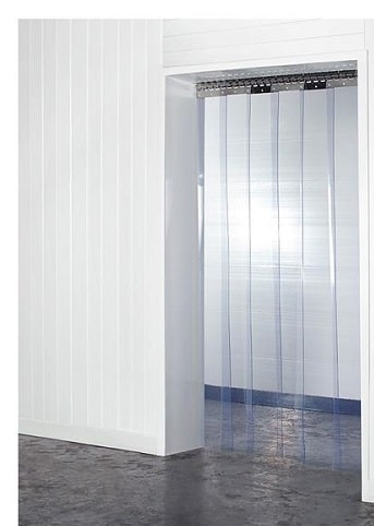 Antimicrobial PVC Strip Curtains Steritouch Technology 200mm X 2mm
