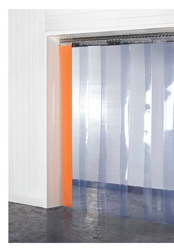Antimicrobial PVC Strip Curtains Steritouch Technology 300mm X 2mm