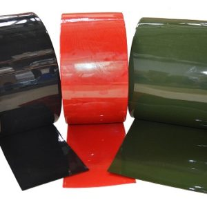 PVC Welding Curtain Strip Green Bronze And Red Strip Curtains